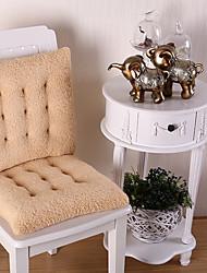 abordables -Coussins de chaises Couleur Pleine Relief Polyester Literie