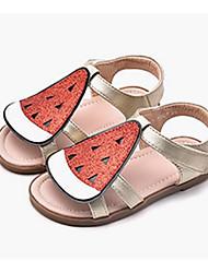 abordables -Fille Chaussures Matière synthétique Eté Semelles Légères Sandales Paillette / Scotch Magique pour Enfants Or / Argent