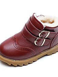 billige -Drenge / Pige Sko Syntetisk læder Efterår Snestøvler Støvler Spænde for Børn / Baby Sort / Brun / Bourgogne / Ankelstøvler