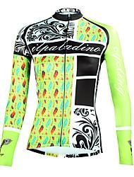 tanie -ILPALADINO Damskie Długi rękaw Koszulka rowerowa - Miętowy Moda Rower Top Odporność na promieniowanie UV Sport Zima Elastyna Kolarstwo górskie Kolarstwie szosowym Odzież