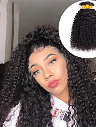 Недорогие -4 Связки Бразильские волосы Kinky Curly Не подвергавшиеся окрашиванию Необработанные натуральные волосы Человека ткет Волосы Пучок волос One Pack Solution 8-28 дюймовый Естественный цвет / Без запаха