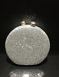 Недорогие -Жен. Мешки Satin / PU Вечерняя сумочка Кристаллы Сплошной цвет Лиловый / Пурпурный / Тёмно-синий