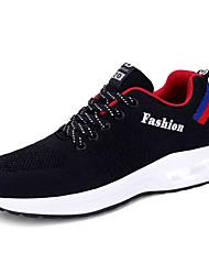 hesapli -Erkek Ayakkabı Tissage Volant Bahar Günlük Atletik Ayakkabılar Yürüyüş Günlük için Gri / Mavi / Siyah / Kırmızı
