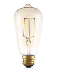 Недорогие -GMY® 1шт 2 W 180 lm E26 / E27 LED лампы накаливания ST19 2 Светодиодные бусины COB Декоративная Янтарный 120 V / FCC