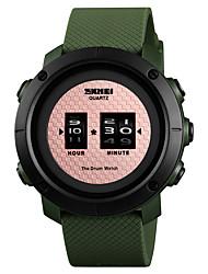 Недорогие -SKMEI Муж. Спортивные часы Наручные часы Цифровой Стеганная ПУ кожа Черный / Зеленый 50 m Защита от влаги Творчество Новый дизайн Цифровой Роскошь Мода -  / Один год