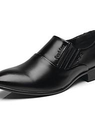 baratos -Homens Sapatos Confortáveis Couro Ecológico Primavera & Outono Mocassins e Slip-Ons Preto