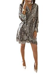Недорогие -женский ежедневно выше колена труба / русалка / платье-футляр v шеи розовый коричневый s m l xl