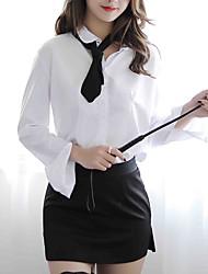Недорогие -Жен. Форма / чонсам Ночное белье - С разрезами Контрастных цветов