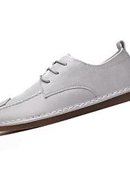 hesapli -Erkek Ayakkabı PU Bahar İngiliz Oxford Modeli Günlük için Beyaz / Siyah / Gri