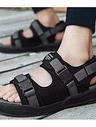 hesapli -Erkek Ayakkabı Kanvas Yaz Sandaletler Günlük / Dış mekan için Siyah / Siyah ve Gümüş / Siyah / Mavi