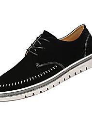 baratos -Homens Sapatos Confortáveis Couro Ecológico Inverno Casual Oxfords Não escorregar Preto / Cinzento / Khaki