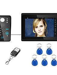 Недорогие -7inch проводной / беспроводной wifi rfid пароль видео домофон домофон домофон система upport удаленное приложение разблокировка записи