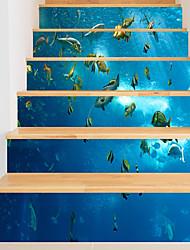Недорогие -Декоративные наклейки на стены - 3D наклейки Пейзаж / Животные Гостиная / В помещении