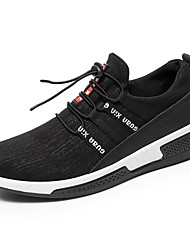 baratos -Homens Sapatos Confortáveis Microfibra Primavera Verão Esportivo Tênis Corrida Branco / Preto