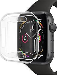 Недорогие -Кейс для Назначение Apple Apple Watch Series 4 Силикон Apple