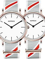 Недорогие -Kopeck Для пары Наручные часы электронные часы Японский Японский кварц Нейлон Черный / Серый / Небесно-голубой 30 m Защита от влаги Повседневные часы Аналоговый На каждый день Мода -