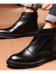 hesapli -Erkek Ayakkabı PU Sonbahar Çizmeler Bootiler / Bilek Botları Günlük için Siyah