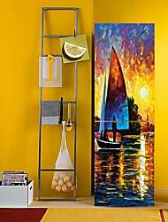 Недорогие -Наклейки на холодильник - 3D наклейки Пейзаж / Море Кухня / Столовая