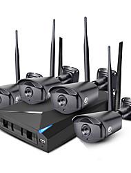 Недорогие -Jooan® 4ch 960p беспроводной комплект для обеспечения безопасности nvr 4 * 1,3-мегапиксельная наружная и ночная съемка wifi ip-камера cctv с 1tb hdd