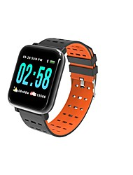 abordables -wearpai A6 Bracelet à puce Android iOS Bluetooth Wi-Fi Elégant Sportif Imperméable Moniteur de Fréquence Cardiaque Mesure de la pression sanguine Chronomètre Podomètre Rappel d'Appel Moniteur