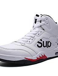 cheap -Men's Light Soles PU Spring & Summer / Fall & Winter Sporty Basketball Shoes Black / White / Khaki