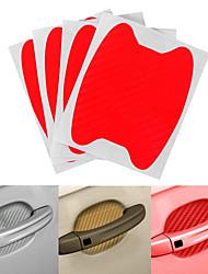 Недорогие -Оранжевый / Серый / Красный Автомобильные наклейки Симпатичные Стиль Наклейки для дверных ручек Не указано 3D-наклейки