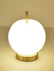Недорогие -одна голова сообщение современный творческий роскошь яблоко стекло настольная лампа для гостиной кабинет спальня прикроватная украсить настольный светильник
