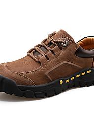 hesapli -Erkek Ayakkabı Nappa Leather İlkbahar & Kış Klasik / Günlük Oxford Modeli Günlük / Dış mekan için Siyah / Kahverengi / Haki
