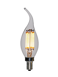 Недорогие -10 шт. 2 W 120 lm E12 / E14 LED лампы в форме свечи C35L 2 Светодиодные бусины Высокомощный LED Тёплый белый 110-130 V / 200-240 V / RoHs / FCC / VDE