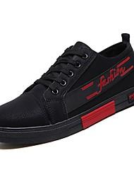 זול -בגדי ריקוד גברים נעלי נוחות PU אביב נעלי ספורט שחור לבן / שחור אדום