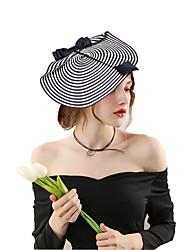 abordables -Elizabeth La merveilleuse Mme Maisel Filet de plume Kentucky Derby Hat Epingle à cheveux Pique cheveux dames Rétro / Vintage Femme Noir / blanc Noir & blanc Nœud papillon Plumes Fabrication CAP Fibre