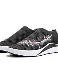 hesapli -Erkek Ayakkabı PU Bahar Günlük Mokasen & Bağcıksız Ayakkabılar Günlük için Siyah / Gri