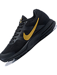 Недорогие -Муж. Комфортная обувь Эластичная ткань Весна & осень Спортивная обувь Дышащий Черный и золотой / Атлетический / Амортизирующий