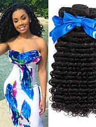 tanie -4 zestawy Deep Wave Włosy naturalne remy Włosy naturalne Fale w naturalnym kolorze Pielęgnacja włosów Doczepy 8-28 in Kolor naturalny Ludzkie włosy wyplata Gładki Seksowna kobieta Najwyższa jakość