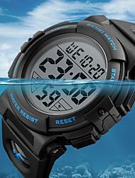 baratos -SKMEI Homens Relógio Esportivo Relógio Militar Digital Couro PU Acolchoado Preta / Verde 50 m Impermeável Calendário Cronógrafo Digital Luxo Casual - Vermelho Verde Azul / Cronômetro