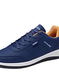 hesapli -Erkek Ayakkabı PU Kış Sportif Atletik Ayakkabılar Atletik için Beyaz / Siyah / Mavi / Zıt Renkli