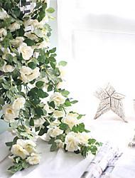 Недорогие -Искусственные Цветы 1 Филиал С креплением на стену подвешенный Свадьба Пастораль Стиль Розы Цветы на стену