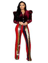 Недорогие -женские брюки чинос - однотонные красные