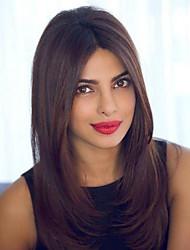 Недорогие -Натуральные волосы Лента спереди Парик стиль Индийские волосы Прямой Парик 120% Плотность волос Лучшее качество Жен. Парики из натуральных волос на кружевной основе