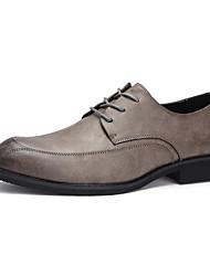 hesapli -Erkek Ayakkabı PU Kış Günlük Oxford Modeli Günlük için Siyah / Gri
