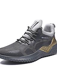 Недорогие -Муж. Комфортная обувь Синтетика Зима Спортивная обувь Беговая обувь Амортизирующий Черный / Серый
