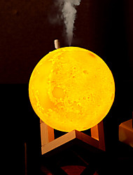 billige Originale lamper-HKV 1set MOON LED Night Light / 3D nattlys Trefarget Usb Bursdag / fuktet / Bedside 5 V