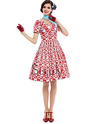3e7d9a4cef3b Audrey Hepburn Den underbara fru Maisel Blom Retro / vintage 60-talet  Wasp-Waisted Kostym Dam Klänningar Röd Vintage Cosplay Kortärmad T-shirt  V-hals ...