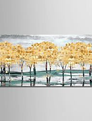 Недорогие -Hang-роспись маслом Ручная роспись - Пейзаж Modern Без внутренней части рамки / Рулонный холст