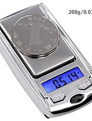 abordables -200g/0.01g Portable Échelle de bijoux numérique Pour bureau & enseignement