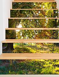 Недорогие -Декоративные наклейки на стены - 3D наклейки Пейзаж / Цветочные мотивы / ботанический Гостиная / В помещении