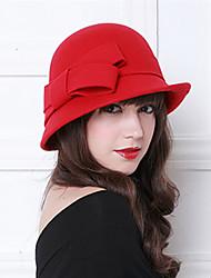 Недорогие -Чудесная миссис Мейзел Жен. Взрослые Дамы Ретро Колпак шляпа шляпа Серый / Коричневый / Красный Бант Шерсть