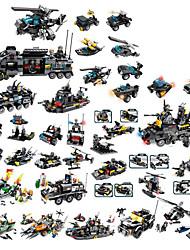 Недорогие -Конструкторы 400-800 pcs Армия Танк Боец моделирование Военная техника Танк Вертолет Все Игрушки Подарок Legoingly