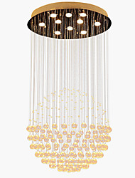 Недорогие -10-Light Кристаллы Подвесные лампы Потолочный светильник Электропокрытие Металл Хрусталь, LED 110-120Вольт / 220-240Вольт Теплый белый Лампочки включены / GU10