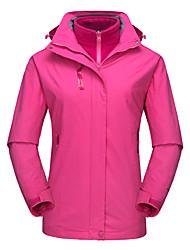 Недорогие -DZRZVD® Жен. Водонепроницаемая туристическая куртка 3 в 1 на открытом воздухе Зима С защитой от ветра Водонепроницаемость Дожденепроницаемый Воздухопроницаемость Жакет Верхняя часть